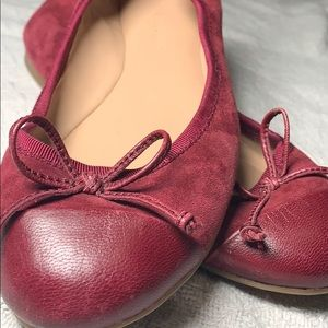 Banana republic burgundy leather and Swede flats